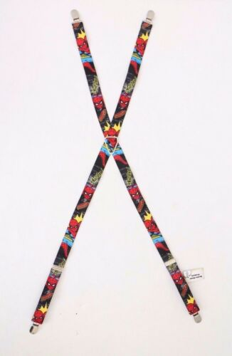 Marvel Buckle Down SPIDER-MAN Character Suspenders ~One Size Fits Most~ Boys NWT
