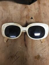 Vintage Ray Ban Danette Bausch & Lomb B & L USA White Frames Funky AS-IS