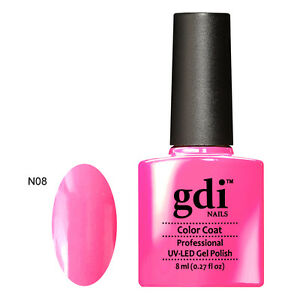 Details about UK SELLER Gdi Nails N08 NEON PINK (GLOW IN THE DARK) Color  UV/LED Soak Off