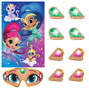 Image Is Loading SHIMMER And SHINE Genies Party Game Poster Birthday