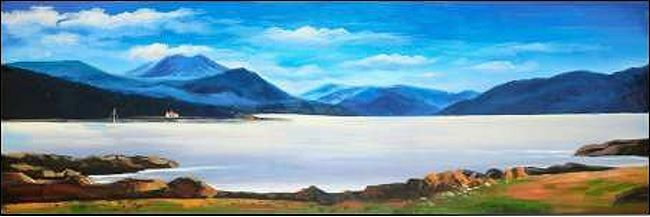 Atelier camilla-imagen ANCH : Escocés Highlands camilla-imagen Atelier de Pantalla montañas COSTA ca95a2
