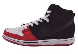 new product 418e7 94bf9 Image is loading Nike-DUNK-HIGH-PREMIUM-SB-Black-University-Red-