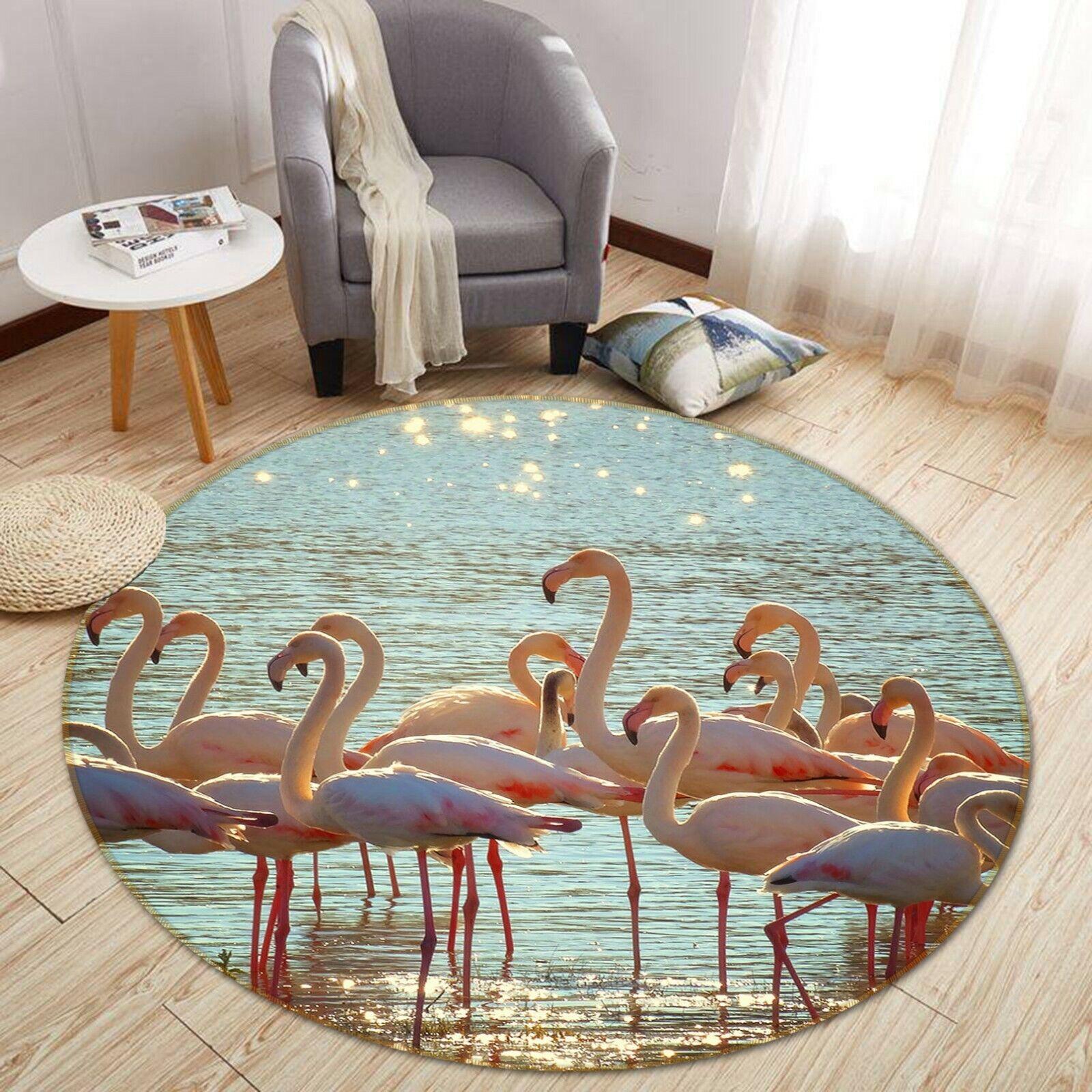 3d FLAMINGO lago a43 animale gioco antiscivolo tappeto elegante foto TAPPETO Wendy