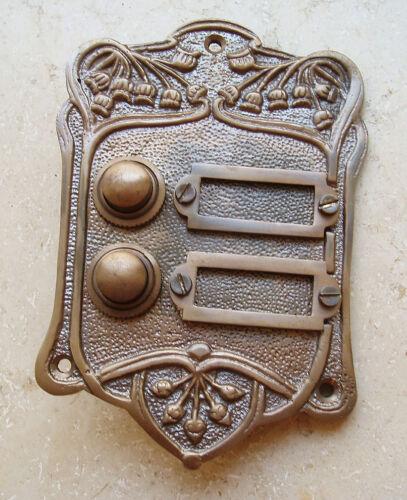 Geschenknet Antik latón timbre 2 Jugendstil timbre klingelplatte k15a