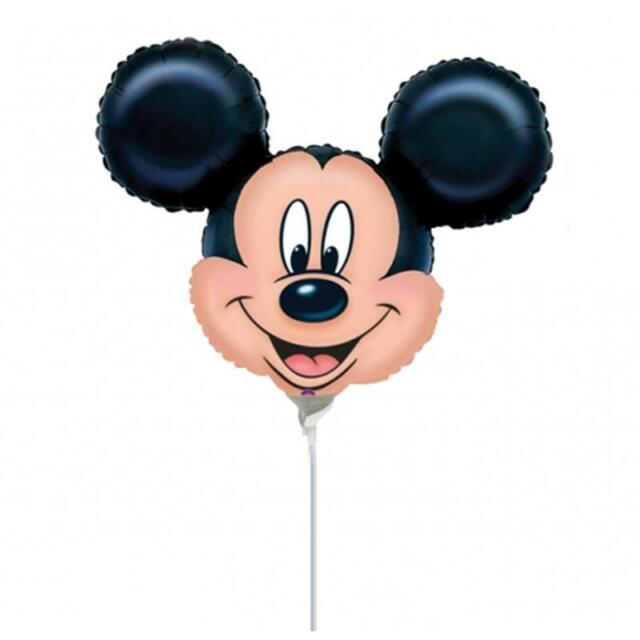MICKEY MOUSE HEAD SHAPED 1 ONE MINI BIRTHDAY PARTY FOIL BALLOON
