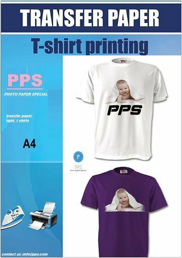 NO 1 Inkjet Iron on T Shirt Transfer Paper A4 10 Sheets (for Light Fabrics