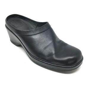 Women-039-s-Dansko-Mules-Clogs-Shoes-Size-39-EU-8-5-9-US-Black-Leather-Nursing-M11