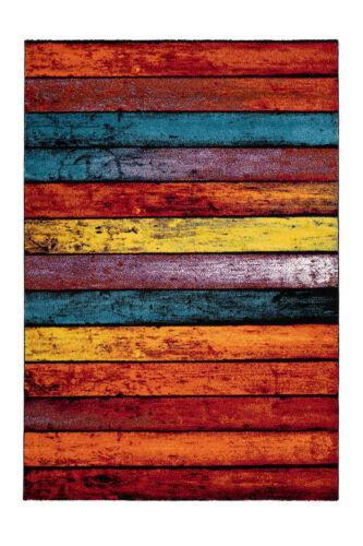 Enfants Tapis Moderne Arc-en-ciel Design poutres Motif Coloré Rouge Orange Jaune Bleu