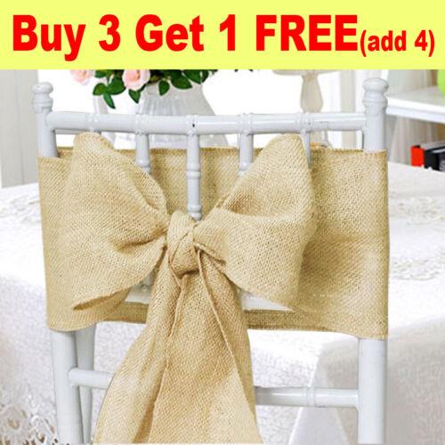 Hessian Chair Cover Sashes Sash Roll FULLER BOW Table Runner Wedding
