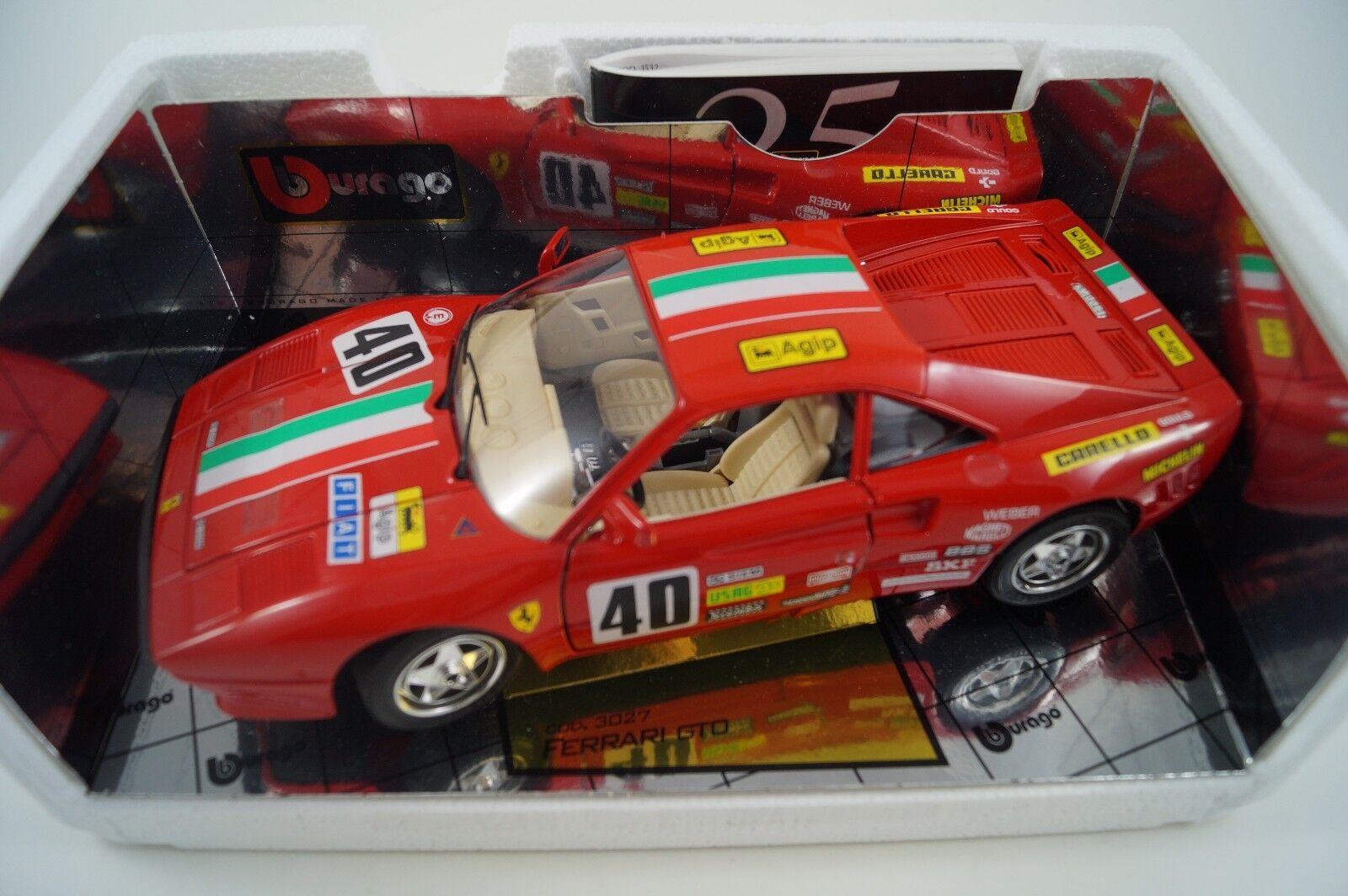 Bburago BURAGO voiture miniature 1 18 FERRARI GTO 1984 Nº 40 Cod. 3027  en OVP