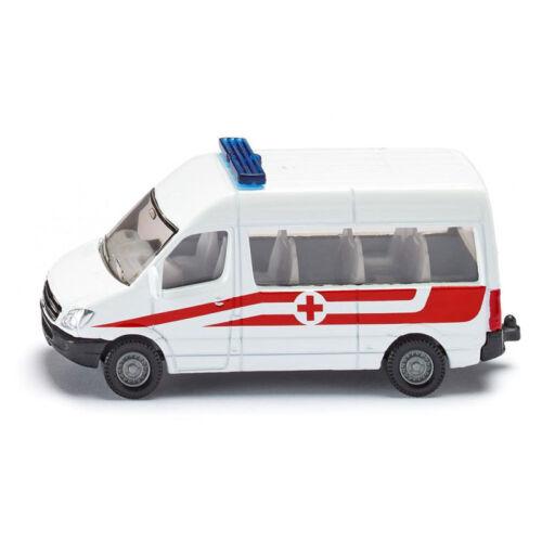 """° Siku 0805 Mercedes Benz Sprinter /""""servicio de rescate Austria/"""" blanco nuevo"""