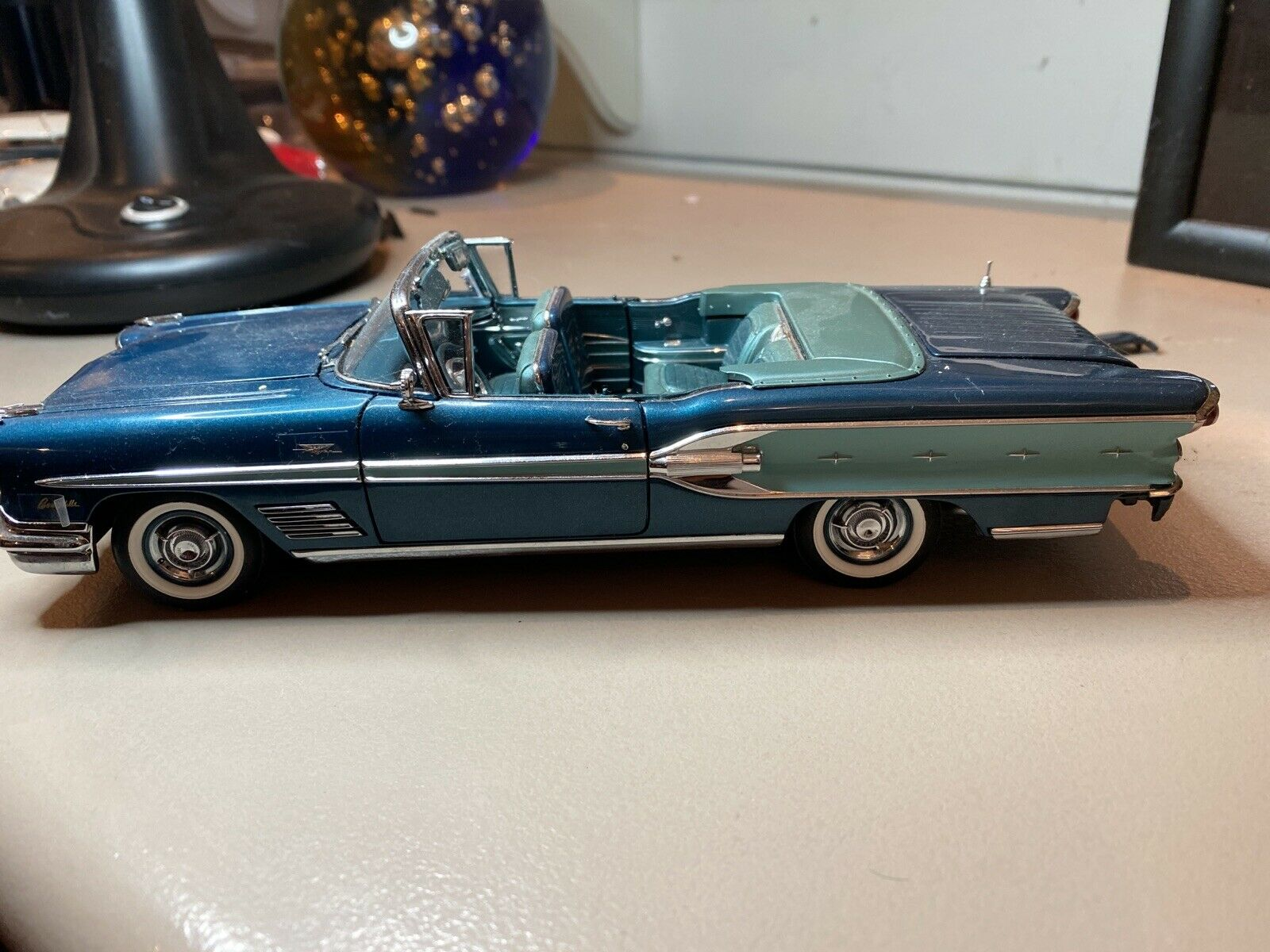 1958 Pontiac Bonneville Convertible Danbury Mint 1 24 Used Beautiful Ebay
