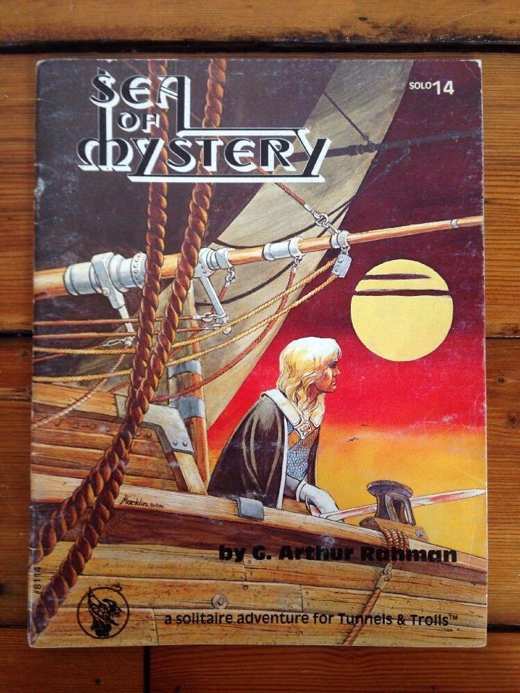 Vintage Sea Of Mystery Tunnels Trolls Solitaire Adventure RPG Oop 1981 Solo 1419