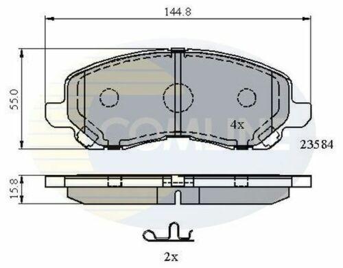 /> sur Diesel Essence Comline Plaquettes frein avant pour Dodge CALIBER 1.8 2.0 2.2 2.4 06