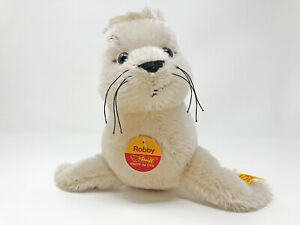 Steiff-Seehund-Baby-ROBBY-liegend-ca-27-cm-Nr-354120-neuwertig-unbespielt