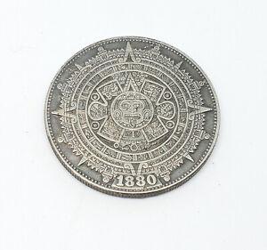 1880-Morgan-Dollar-Hobo-Nickel-Coin-Mayan-calendar-etched