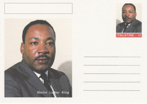 CINDERELLA 4445 MARTIN LUTHER KING on Fantasy Postal Stationery card