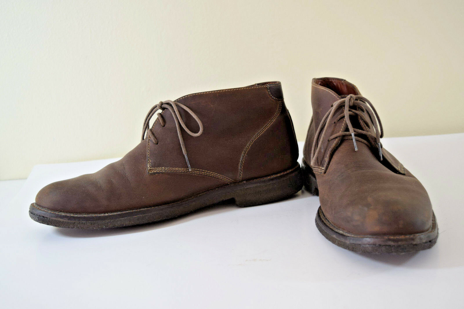 JOHNSTON & MURPHY Mens CHUKKA Boots 9 M COPELAND Tan Leather Lace-Up