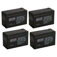 Upg 4 Pack - 12v 7ah Sla Battery Replaces Hr9-12 Gp1270 Sla1075 Gp1270f2 Wp7-12