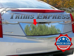 2013-2019-Cadillac-ATS-4-Door-License-Plate-Trim-Backdrop-Chrome-Stainless-Steel
