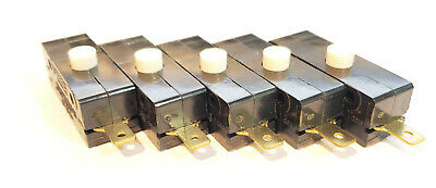 5 Pack Cherry G13 SPDT NO NC Pushbutton Switch 100mA 125 VAC Nomally Open Closed