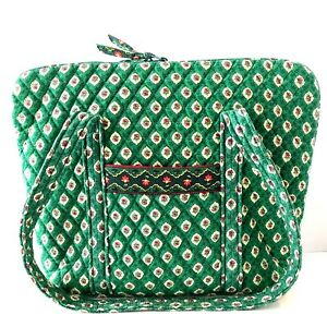 Vera-Bradley-Greenfield-Green-Commuter-Tote-Bag-School-Books-Tablet-Accessories