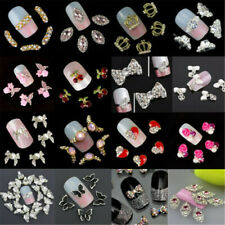 Charm 10pcs DIY Hollow Nail Art Alloy Tips Decoration Jewelry Glitter Rhinestone