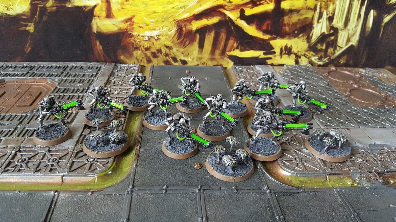 Warhammer Necron Warriors y Scarabs Pro Pintado hecho a pedido
