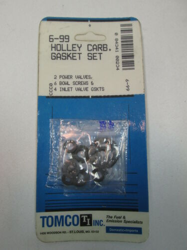 NEW Tomco 6-99 Holley Carburetor Gasket Set