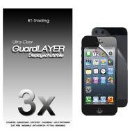 3x Apple Iphone 5 Display Schutzfolie Vorder Und Rückseite Folien Schutz Set