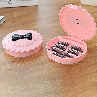False Make Up Cosmetic Eyelashes Storage Case Bow Makeup Plastic Box Travel