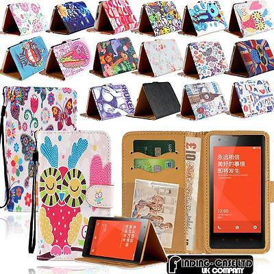 For Xiaomi Redmi 1/2/3/Note123 Leather Stand Flip Wallet Cover Mobile Phone Case