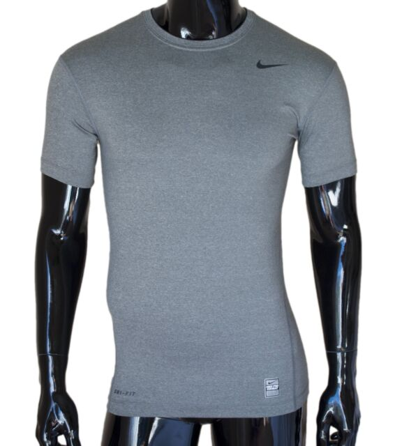 737803fd81c Nike Pro Combat Compression Short Sleeve Gray Men s Large L 269603 Free  Shipping