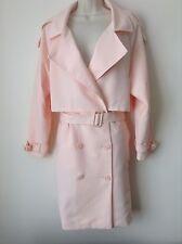 Fashion Union Pink Windbreaker Mac Coat Jacket Size 8UK