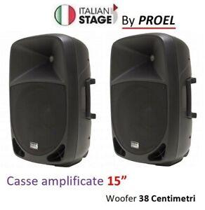 woofer 15 Classe A+B IS P115A 400w Coppia diffusori attivi bi-amplificati by Proel