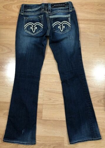 ROCK REVIVAL Jeans 26 Alanis Boot Leather Pockets