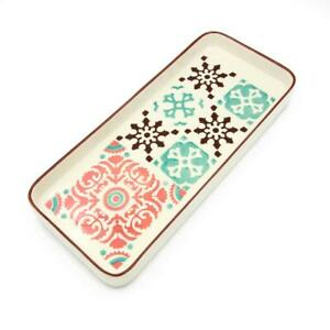 Hand-painted-Portuguese-Ceramic-Large-Tart-Tray-4-Colors-Available