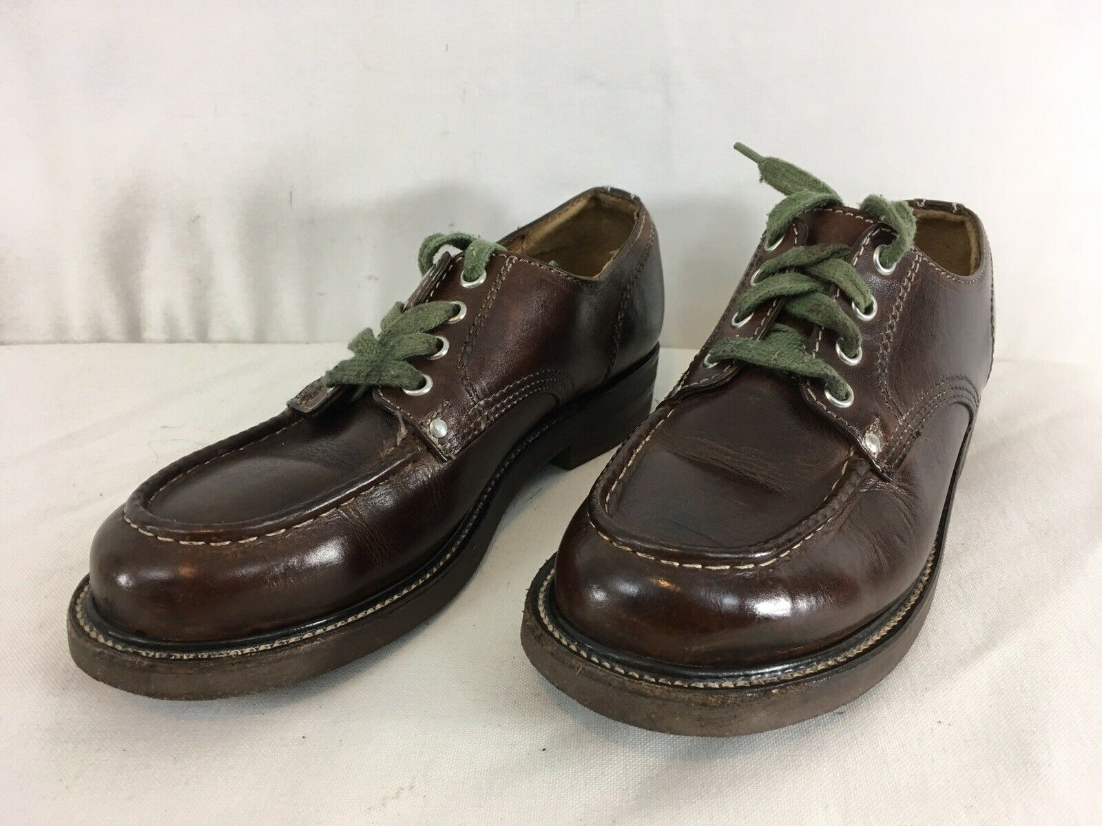 J Crew Mens 7 D Brown Leather Soft Toe Lace Up Oxford Work shoes