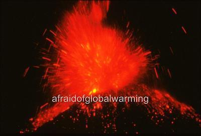 "Photo 1947 Mexico /""Paricutin Volcano Eruption at Night/"""