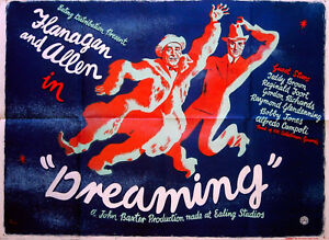 DREAMING-1944-BUD-FLANAGAN-CHESNEY-ALLEN-CLIFFORD-ROWE-UK-QUAD-POSTER