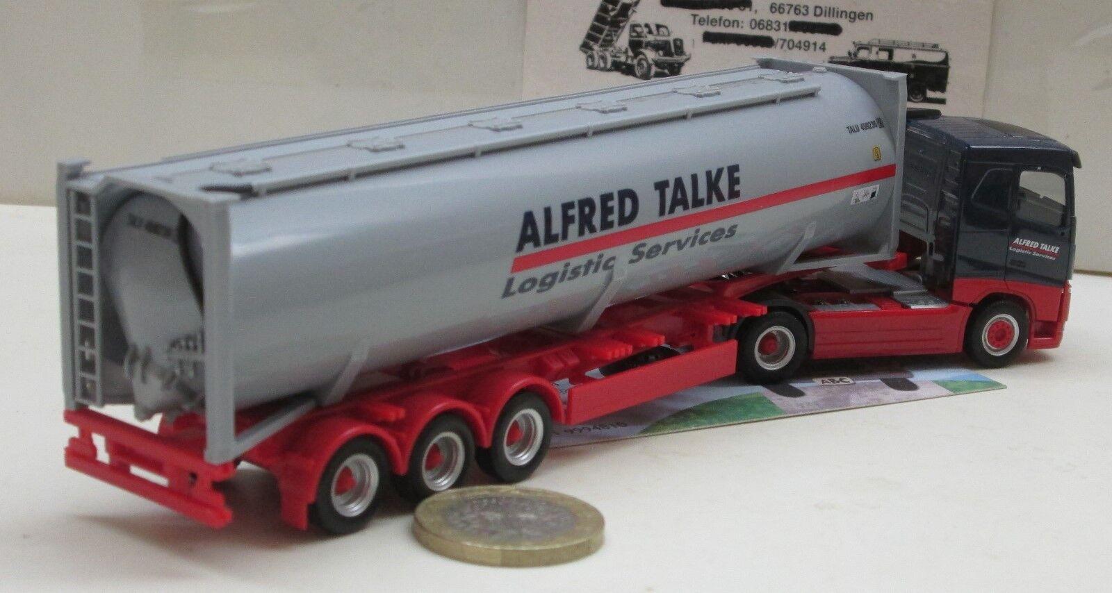 Herpa 309363 Volvo FH tejado plano-drucksilo contenedor-remolcarse contenedor-remolcarse contenedor-remolcarse  Alfrojo TALKE  842398