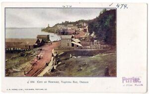 101020 CITY OF NEWPORT OR OREGON YAQUINA BAY VINTAGE POSTCARD c1906
