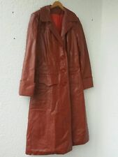 Leder Mantel gr 38-40 Rostbraun