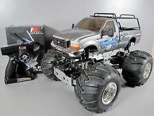 Tamiya 1/10 RC Juggernaut 2 Ford F350 2.4Ghz ESC 4WD Front Wheel Steering Futaba