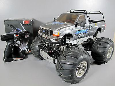 Built Tamiya 1/10 RC Juggernaut 2 Ford F350 2.4Ghz ESC 4WD FWS Futaba + extra