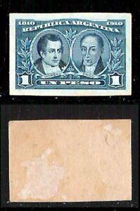 Argentina-1910-1-Pesos-su-cartoncino-Prova-colore-non-dentellato