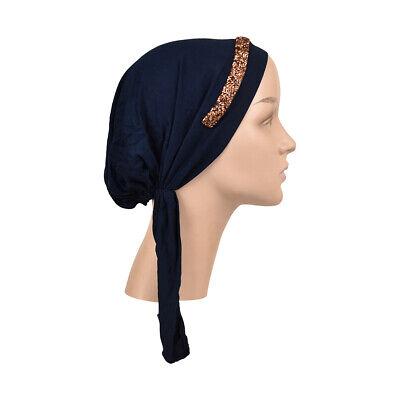 Pre tied Bandana Headscarf Crazy Floral Print Chemo Alopecia Modest Head Cover