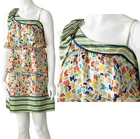 Jessica Simpson Butterfly One Shoulder Butterfly Bow Dress 8