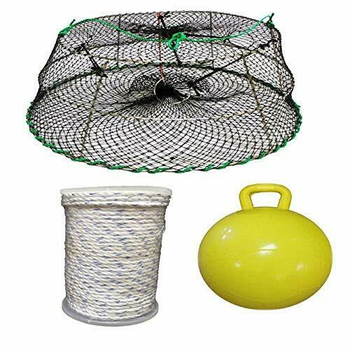 KUFA SportsTower Style Stainless Steel Prawn Trap, 400' Sinking rope and Float