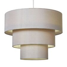 Modern Champagne Gold Faux Silk 3 Tier Ceiling Pendant Light Shade Lampshade NEW